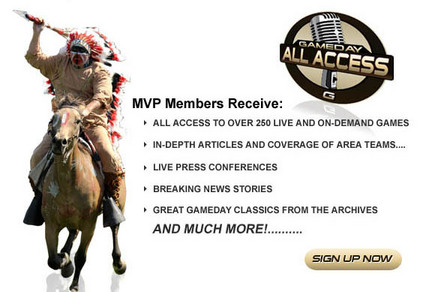 MVP Members Receive: All-Access to over 250 live and on-demand games In-depth articles and coverage of area teams Live press conferences Breaking News Stories Great Gameday Classics from the archives And Much More! ... Sign Up Now